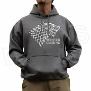 Winter Is Coming House Stark Game Of Thrones Unisex Jumper Hoodie Colour S-xxl