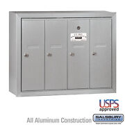 4 Door - Vertical Commercial Locking Apartment Mailbox - Usps Access