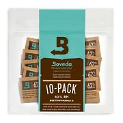 Boveda 62 Rh 2-way Humidity Control | Size 8 Protects Up To 1 Oz | 10-count