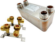 Steel Plates Plate Heat Exchanger Brazed Nordic 1and039 125-450kw + Mounting Support