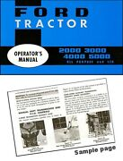 Ford Tractor 2000, 3000, 4000, 5000 All Purpose And Lcg Operator's Manual 1965