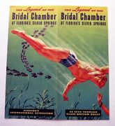 1951 The Legend Of The Bridal Chamber Silver Springs Florida Brochure