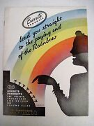 Vintage 1948 Burrite Brochure W/ Bright Colored Pictures Of Plastic Dishes