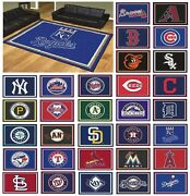 Mlb Teams - 8and039 X 10and039 Decorative Ultra Plush Carpet Area Rug
