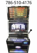 Bally S9000 Black And White 7and039s 3 Reel Slot Machine Coinless / Handpay