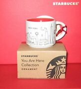 Starbucks 2014 Christmas You Are Here New York Ornament Taster Cup Brand New