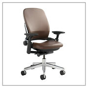 Steelcase Leapr Chair - Steelcase Leather 4-way Arms Adjustable Lumbar