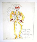 Vintage 1976 Dick Clark Costume Design For Jimmy Osmond Special By Chas. Berline