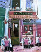 Coffee Cafe Original Art Painting Dan Byl Contemporary Modern Canvas 4x5 Ft