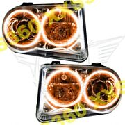 Oracle Halo 2x Headlights Hid Style For Chrysler 300 300c V8 05-10 Amber Led