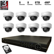 Nvr Kit 4k 8ch Nvr+8tb Hard Disk+4mp Dome Ip Cameras 8 Pieces