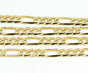 18k Yellow Gold Figaro Chain Necklace 24 New 17.4g 2480e