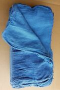 2000 New Shop Rags / Industrial Cleaning Towels Blue 14x14