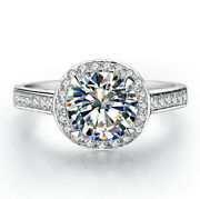 1ct Pure 14k White Gold Diamond Engagement Ring Statement Jewelry For Sweetheart