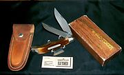 Schrade 25ot Knife And Sheath Circa-1970and039s Old Timer Bowie W/packagingpapers Rare