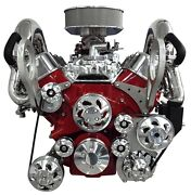 Billet-track Serpentine Drive Kit For A Bblock Chevrolet With A Circulating Pump