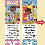 Doc Mcstuffins Birthday Invitations 10 Ea With Env Personalized Custom Made