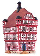 Ceramic Tealight Holder Collectible Miniature Town Hall In Melsungen 35 Cm
