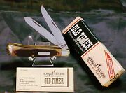 Schrade 94ot Trapper's Knife Old Timer Circa-1980's Usa Made And Packaging,papers