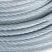 3/8 Galvanized Aircraft Cable Steel Wire Rope 7x19 600 Feet