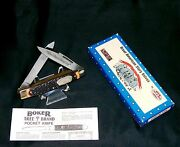 Boker American Story Knife 1772 The Alamo 4 Closed W/packaging Papers Rare