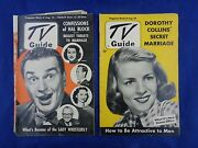 Vintage Tv Guide 1952 Paul Winchell And Jerry Mahoney, Dorothy Collins - Lot Of 2