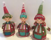 Katherineand039s Collection Set Of 3 Pixie Elf Figurines Christmas Display 9
