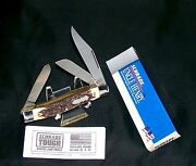 Schrade 885u Knife Usa King Ranch 3-7/8 Uncle Henry W/original Packaging,papers