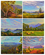 6 Placemats + 6 Coasters - Australian Countryside,outback,ayers Rock,waterproof
