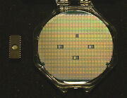 Vintage 4 Silicon Wafer - National Semiconductor 2716 In Case + Packaged Chip