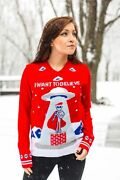 Crazy Holidaze Womenand039s Light Up I Want To Believe Ufo Ugly Christmas Sweater