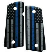 Custom Compact Officer 1911 Grips Ambidextrous Thin Blue Line American Flag