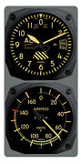 Trintec Vintage Altimeter / Airspeed Clock And Thermometer Set 9060v/9061vf
