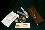 Schrade 285uh Knife Pro Trapper Old Timer 3-7/8 Usa Made W/packaging And Papers