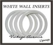 [lg2803] Vintage Collector Car Automobile Wheel White Wall Tires 14