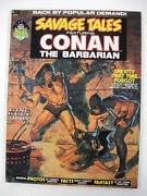 Savage Tales 2-5 High Grade Lot 4 Books Conan Guide Priced At 184