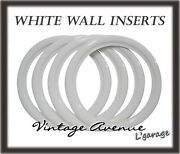 [lg3052] Vintage Collector Car Automobile Wheel White Wall Tires 15