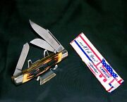 Camillus 88 Stockmanand039s Knife Sword Brand 1976 Side Locking Design W/packaging