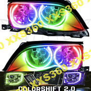 Oracle Halo Headlights Black For Bmw 3-series 02-05 Colorshift 2.0 Led Angel Eye