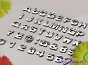 Chrome Silver Letters Alphabet Sticker Emblem Badge Decal For Car Or Motorcycle