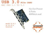  Usb 3.0 Pcie Express Adapter Card 4 Port For Mac Pro 1.1 5.1 - 2006 2012