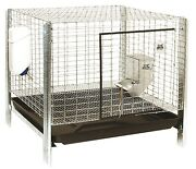 Pet Lodge Complete Rabbit Hutch Dropping Pan Feeder Waterer 24 X 24 X 16