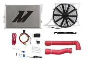 Mishimoto Bmw E46 M3 Radiator+hose+shroud+fan And Probe Fan Controller Kit Red