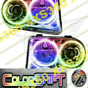 Oracle Halo 2x Headlights Hid For Chrysler 300 300c V8 05-10 Led Colorshift 1.0