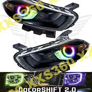 Oracle Halo Headlights Black Hid Style For Dodge Dart 13-16 Colorshift 2.0