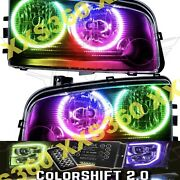 Oracle Halo Headlights Non Hid For Dodge Charger 05-10 Colorshift 2.0 W/remote