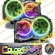 Oracle Halo Headlights Hid Style For Jeep Grand Cherokee 08-10 Colorshift 1.0