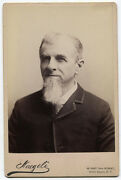 Cabinet Card Man With White Chin Only White Beard. Friendly Eyes. N.y.