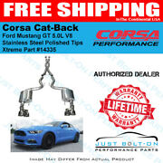 Corsa 3in Xtreme Cat-back 2015-16-17-18 Mustang Gt Coupe Polished Quad 14335