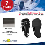 Oceansouth Outboard Storage Full Cover For Mercury 4cyl 1.7l 135hp-200hp 20 Leg